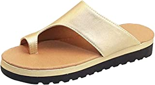 IPOTCH Women's Summer Fashion Beach Slippers Leather Wedges Open Toe Shoes Ladies Platform Slippers