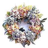 yasu7 Guirnalda de hortensias para boda, guirnalda de Navidad, decoración de puerta del hogar, decoración de ratán para fotografía, accesorios