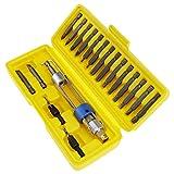 OTOTEC Juego de destornilladores con 20 puntas de destornillador magnético para reparación de taladro, destornillador, herramientas de cabeza