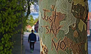 Home Comforts Etched Engraved Just Say No Tree Tree Trunk Vivid Imagery Laminated Poster Print 11 x 17