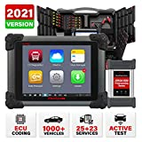 Autel Maxisys CV MS908CV, Heavy Duty Truck Scanner, Semi Truck Scanner with J-2534 ECU Programming, Coding, Active Test, 25 Special Services, 23 Adaption Functions, Bluetooth Diesel Diagnostic Tool