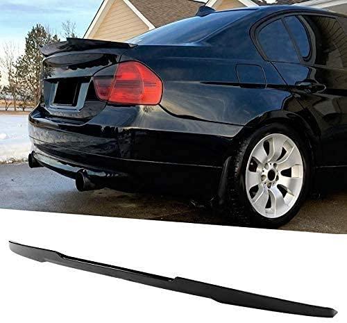 SIOM Alerón De Techo De Coche Negro Brillante para Alerón De Puerta Trasera Estilo M4, Apto para BMW 3 Series E90 M3 2006-2011, Tiras De Alerón De Labios (Color, Negro), Negro