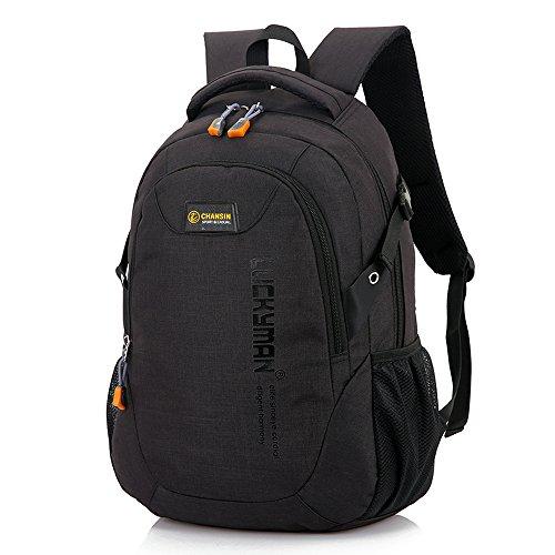 Y6086# Teimose 15.6inch Laptop Bag Business Case Classic Daypack Bookbag Travel Backpack School Bag Rucksack (Black)