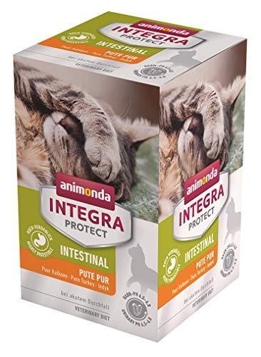 animonda Integra Protect Intestinal Katze, Diät Katzenfutter, Nassutter bei Durchfall oder Erbrechen, Pute pur, 6 x 100 g