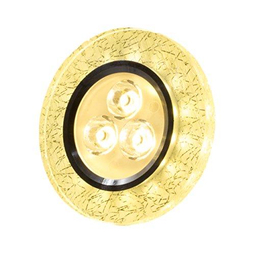 SpiceLED Einbaupanel | CrushLED | 6W warmweiß Effektlicht warmweiß | Runde LED Einbauleuchte | Fullbody-Glas Bruchdesign | dimmbar