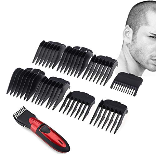 Milue 8Pcs Universal Hair Clipper Limit Comb Guide Attachment Size Barber Replacement