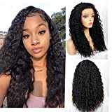 Life Diaries Natural Nero Color Synthetic Parrucca for Black Women Loose Curly Lace Front Parrucca with Baby Hair Heat Resistant 20 Inch