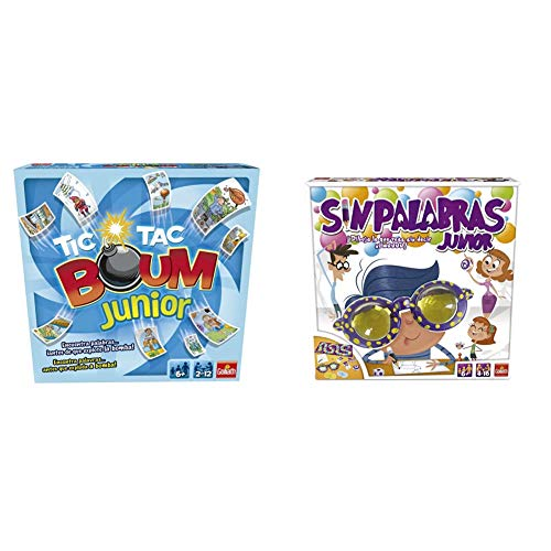 Goliath Tic TAC Boum Junior, Juego de Cartas, Encuentra la Palabra (70508), Color/Modelo Surtido + Sin Palabras Junior, Juego de Habilidad (70110)