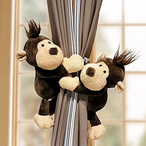 ZXMDP Animales Cortina Tieback Holder Ganchos Tie BacksAccesorios de decoración de la habitación Correas de Cortina Holdback 2pcs, 8