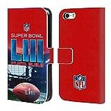 Officiel NFL Stade De Mercedes-Benz Atlanta 2 2019 Super Bowl LIII Coque en Cuir à Portefeuille Compatible avec iPhone 5 iPhone 5s iPhone Se