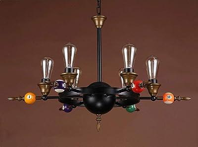 Liunce 4-6-Heads Industrial Viento Hierro Forjado luz Pendiente Loft Industrial Viento Billar Decoración de la lámpara Retro Comedor Salón Dormitorio Foyer Titular de la lámpara Colgante E27 Edison: Amazon.es: Hogar