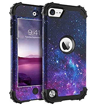 BENTOBEN iPod Touch 7th Generation Case iPod Touch 6th/5th Case 3 in 1 Hybrid Hard PC Soft Rubber Heavy Duty Rugged Bumper Shockproof Phone Cover for iPod Touch 7th/6th/5th Generation Purple