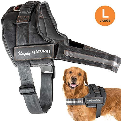 Hundegeschirr von Simply Natural – Großes Ausbruchsicheres Hundegeschirr Mit Leicht Verschließbaren Klettverschlüssen – Starkes Superweiches Hundegeschirr