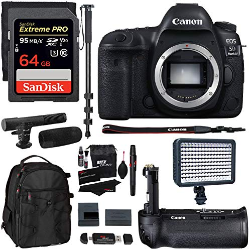 Canon EOS 5D Mark IV Full Frame Digital SLR Camera Body, Canon...
