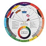 Guía del círculo de mezcla en la tarjeta de papel Rueda de color cromático Suministros Pigmento de uñas Cromatografía tatuaje