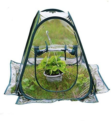 STHfficial Draagbare inklapbare mini transparante tuinplant bloemenafdekking tent mini kassen PVC warmruimte tuin kas pop-up outdoor