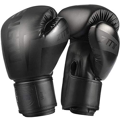 Guantes de Boxeo de Entrenamiento Negros Guantes de Entrenamiento Profesionales para Niños y Jóvenes Adultos para Saco de Boxeo, Kickboxing, Muay Thai, MMA,8oz