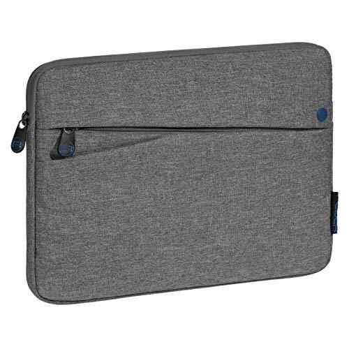 Pedea Tablet PC Tasche Fashion für 10,1-11 Zoll (25,6-27,96 cm) Schutzhülle Etui Hülle mit Zubehörfach, grau/blau