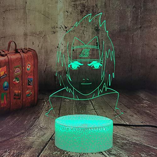 Sasuke - Lámpara de dibujo para niños, diseño de animales, cambio de color, 7 lámparas de mesa LED, mando a distancia, decoración de habitación de Navidad para adolescentes