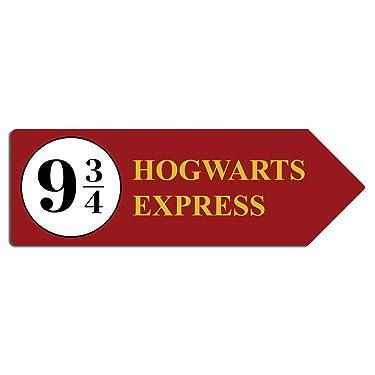 Yilooom Plaform 9 3/4 - Metal Wall Plaque Art Arrow - Hogwarts Express Harry Always