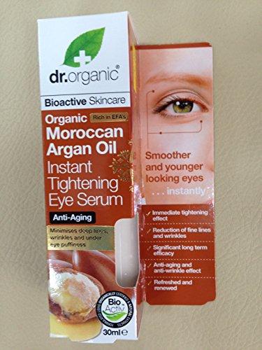 Dr Bio Huile d'argan marocaine instantanée serrage Eye Sérum, anti-âge, anti rides 30 ml. nous Expédions dans le monde entier
