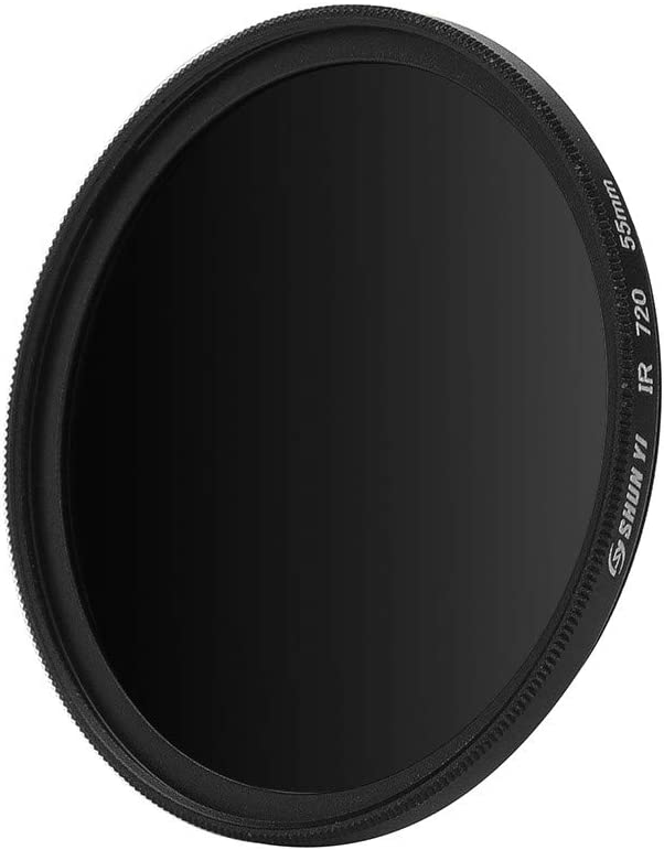 Sdoveb 55mm 720nm Infrared X-RAY IR Filter for Camera Black