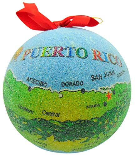 Westmon Works Puerto Rico Ornament Island Map Christmas Tree Decoration Gift Boxed
