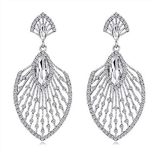 THj Pendientes Elegantes con Colgante de Diamantes de imitación, joyería para Mujer y niña, Regalo para Navidad, Fiesta de cumpleaños de Acción de Gracias