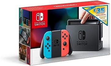 Nintendo Switch - Consola (Estándar) - Azul Neón/Rojo Neón+ Bono 35€ eShop (Código de descarga)