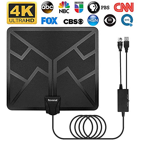 130 Miles TV Antenna - 2020 Upgraded Digital HD Indoor Best TV Antenna Amplified High Definition Digital HDTV Antennas Amplified Signal Booster Support 4K 1080P UHF VHF Free Channels