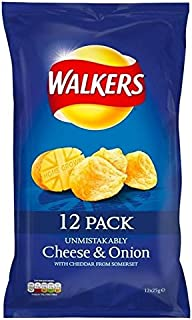 Walkers Cheese & Onion Crisps 25g x 12 per pack