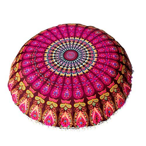 Selma. 43/80cm Round Indian Bohemian Floor Pillow Cushion Cover Case Mandala Pouf Retro Boho Home Decor for Couch Sofa Car Coffee Shop Decor