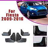 SKNB Guardabarros De Coche Mejorados para Ford Fiesta Hatchback 2009-2016 Guardabarros Delantero Y Trasero Estilo De Guardabarros De Coche U0026 Accesorios para El Cuerpo Negro 4 Piezas