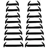 wealsex Nessun Lacci Cravatta Lacci per Scarpe per Adulti e Bambini Impermeabile Set Elastico in Silicone Nessun Colore di Prova del Panno del Pizzo Vari Colori 16 Parti Un Paio (Nero)