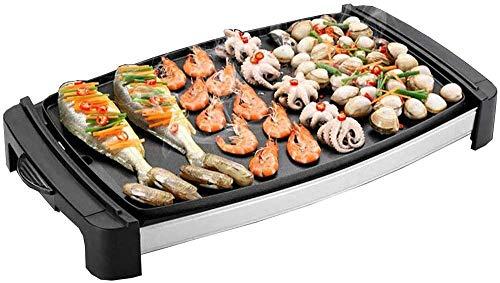 Poêle à Griller antiadhésive Teppanyaki | Grande Plaque de Cuisson pour Petit-déjeuner de Table | Nettoyage Facile | Bac de récupération des Graisses | Température réglable | Barbecue portatif intéri