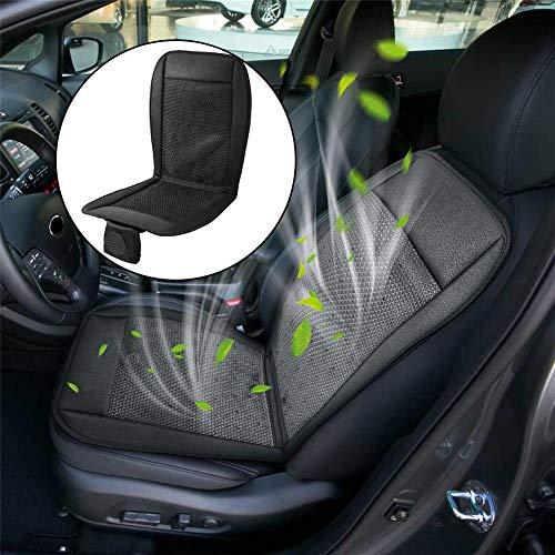 Verkoelend autozitkussen - 12 V autobekleding geventileerde ventilator airconditioning koelpad comfortabele koeling autostoelhoes universeel zwart