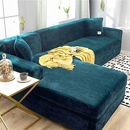 DIELUNY HKPLDE - Funda elástica para sofá (3 plazas), color azul