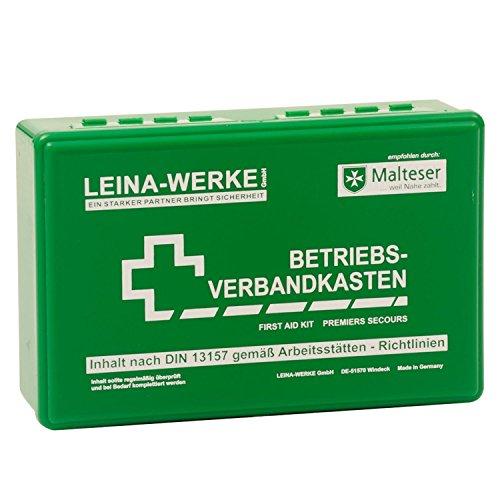 LEINA Betriebsverbandkasten, Inhalt DIN 13157, grün
