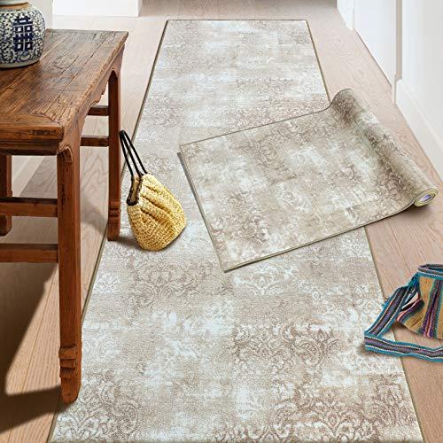 Teppich-Läufer auf Maß Davoli | Moderner Wohnteppich für Flur, Küche, Schlafzimmer | Meterware, viele Größen | rutschfest, robust & pflegeleicht (80 x 300 cm)