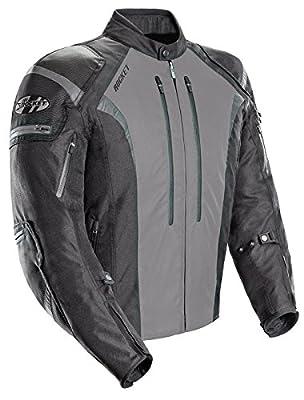 Joe Rocket 1651-5504 Atomic Men's 5.0 Textile Motorcycle Jacket (Grey, Large)