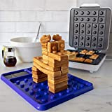 Brick Building Construction Eating Plate - Stack & Build Your Brick-Shaped Waffles on Fun Novelty Plate - as Seen on Kickstarter - Fun Gift for Kids & Adults, Waffle Maker Not Included