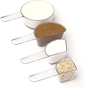 Visual Measuring Cups by Welcome Industries   Nesting, Shatterproof, Dishwasher Safe, BPA free, Great for cooking & baking with kids and learning fractions. Made in USA