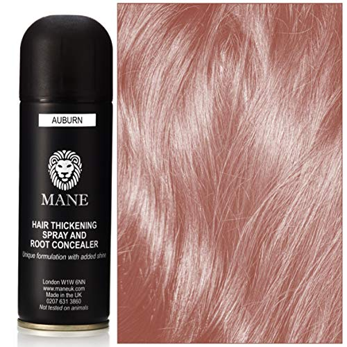 Mane Hair Thickening Spray - for Hair Loss and Thinning Hair and to cover grey roots-Auburn 200 ml