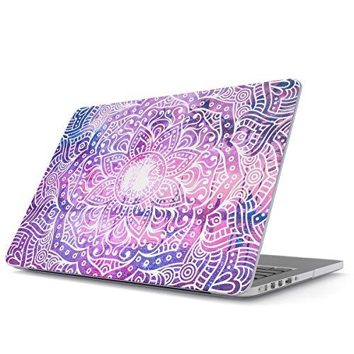 Glitbit Hülle Kompatibel für MacBook Pro 13 Zoll Modell:A2289 / A2251 mit oder ohne Touch-Bar Mandala Hindi Mehendi Landschaft Natur Zentangle Blumen Muster Plastik Hülle