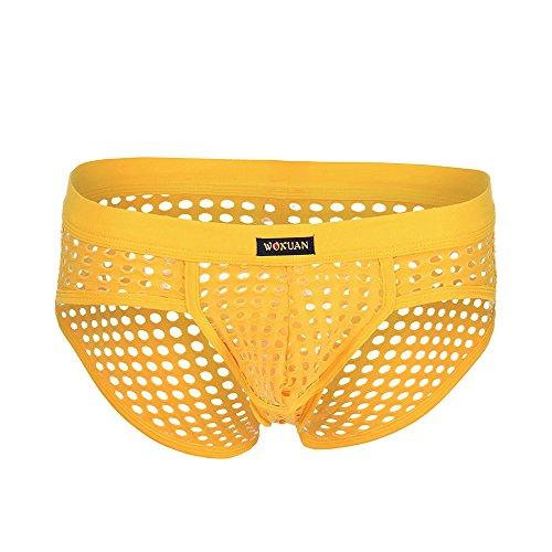 Tanga Briefs String Unterwäsche Herren Erotik Wäsche Unterhosen Männer Boxer Underwear Men Beule Sport Hohl Unterhose Lüftung Trunks von LEEDY