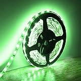 BOGAO 5M Luces de tira LED 300 Unidades SMD 5630 12 V Luz de tira de bajo voltaje No impermeable IP20 Cinta LED Iluminación de cinta verde para gabinetes de cocina para el hogar y más