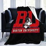 Husong Boston University Ultra Soft Fleece Living Room/Bedroom Warm Throw Blanket Soft Blanket