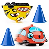 Power Your Fun Turbo Tops Mini Gyro Spinning Tops for Kids – Mini Cars, Battling Tops Game, Small Party Favors for Kids 2pk (Cars)