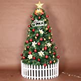 GXXDM Christmas Tree Artificial Premium Hinged Spruce Full Tree,Xmas Tree Solid Metal Stand Perfect for Holiday Decoration-d 240cm(7.8ft)