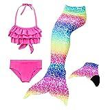 Le SSara Mädchen Cosplay Kostüm Badebekleidung Meerjungfrau Shell Badeanzug 3pcs Bikini Sets (130,...
